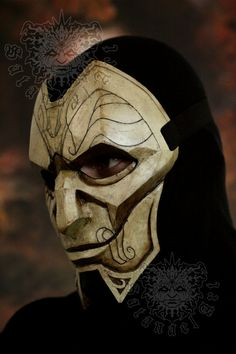 Handmade & paint fiberglass mask. With first layer of gelcoat and 3 layers of fiberglass for more strength of the mask. Every mask is hand painted and may have little difference from the picture. -------SHIPPING INFO: For United States takes from 2 to 3 weeks + the time needed for