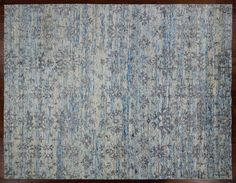 Modern Collection Ivory Bamboo Silk 9x12 Hand Knotted Wool Area Rug H8855 Brooklyn HeightsBambooIvory