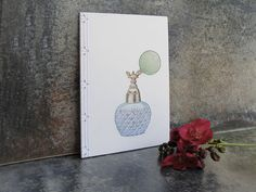 Perfume Crystal Bottle Journal by FabulousCatPapers #worldofcrafters worldofcrafters.gr