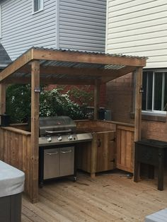 Outdoor Grill Area, Outdoor Grill Station, Outdoor Barbeque, Outdoor Kitchen Patio, Outdoor Kitchen Design, Small Patio, Diy Bbq Area, Rustic Outdoor Kitchens, Outdoor Bars