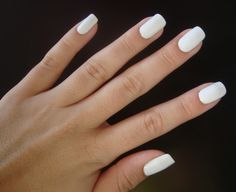 Plain white nails