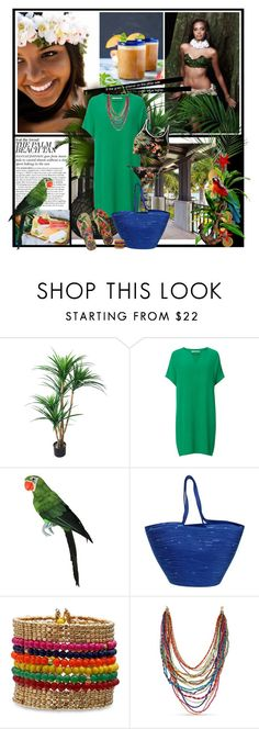 """ISLAND GIRL"" by gustosa ❤ liked on Polyvore featuring TradeMark, Diane Von Furstenberg, Doug Johnston, Havaianas, Summer and tropical"