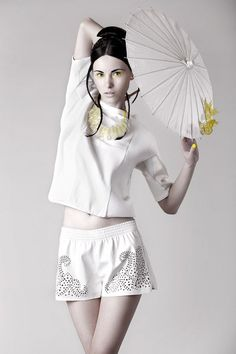 The In the Time of Butterflies Editorial Features Oriental Fashions #makeup #beauty trendhunter.com