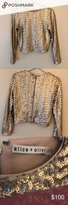 Alice & Olivia sequin top sz 4 Brand new with tags! Never worn ! Alice + Olivia Tops Blouses