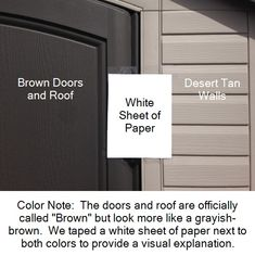 Color of the doors and walls on