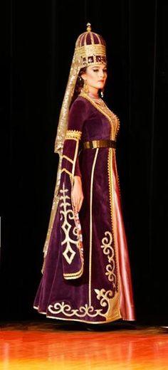Traditional circassian dance costume. Adiga dress.