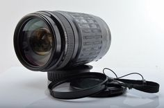 Canon EF 75-300mm f/4 Telephoto Zoom Lens with both Caps & UV Filter. TESTED. (V2530)