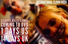 #InternationalClownWeek 1-7 Aug  Cleavers: Killer Clowns is coming to to DVD US - Aug 6th UK - 19th 19th  From Director Mj Dixon   Producer Anna Dixon   #Cleaver #Mycho #SpreadtheHorror #ShareTheHorror #promotehorror Clowns, Mj, Indie, Horror, Anna, Film, Movie Posters, Movies, Movie
