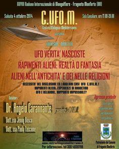 PALCOSCENICO IN CAMPANIA.it: FRAGNETO MONFORTE (BN) - Convegno sugli UFO, sabato 4 ottobre, con Angelo Carannante, presidente del C.UFO.M.