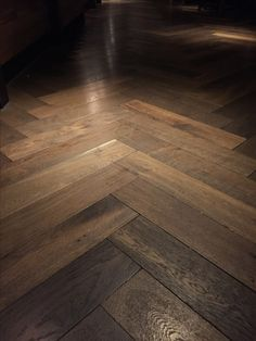 Tanga. Deep Smoked Engineered Oak Herringbone Parquet Flooring. 4 side micro beveled factory pre finished with natural hard-wax oil. Wood Flooring With Style