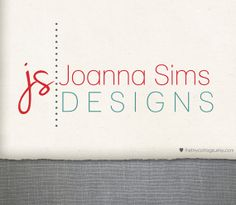 Premade Logo and Watermark Design  Joanna Sims  by TheTinyCottage, $25.00