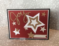 Stampin' Up! Create Christmas Cards, Christmas Holidays, Christmas Stars, Xmas, Star Cards, Holiday 2014, Scrapbook Cards, Scrapbooking, Merry And Bright