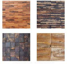 Texturas y características de la colección Fusión de paneles decorativos de madera para revestimiento de paredes. Hechos con madera reciclada de toneles de vino. Floor Texture, Outdoor Kitchen Design, New Homes, Doors, Flooring, Wall Art, House, Furniture, Interior Ideas