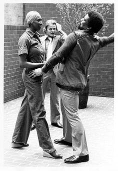 Alvin Ailey working with Judith Jamison and Mikhail Baryshnikov.