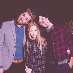 Rhett and link with Stevie