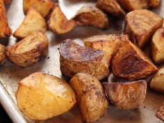 Taco Potatoes| Ree Drummond: Three ingredients: Potatoes, olive oil, and taco seasoning! So simple, but oh...are they delicious! Serve them plain or piled high with sour cream, pico de gallo...the works.