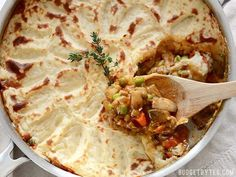 A colorful vegetable medley and a rich brown gravy make this Vegetarian Shepherd's Pie just as satisfying as its beef counterpart. Step by step photos.