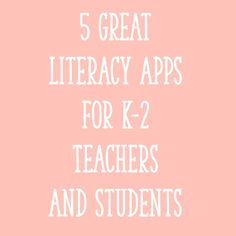 5 Great Literacy Apps for Teachers and Students - Learning at the Primary Pond Primary Teaching, Teaching Phonics, Teaching Ideas, Teaching English, Flipped Classroom, Primary Classroom, Classroom Ideas, Guided Reading, Teaching Reading