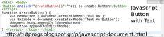 #Javascript #Button with #Text #Element #Programming #Code #Picture : http://tutprogr.blogspot.gr/p/javascript-document.html