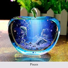 Artistic Spiritual and romantic Pisces love all things beautiful. In fact we love anything that will help us feel inspired and creative.  Typically jewelry, art, clothes and aroma therapy make the best Pisces gift ideas.  Due to the fact Pisces love sensual gifts that stimulate to the senses.    decoration Apple type Crystal Pisces