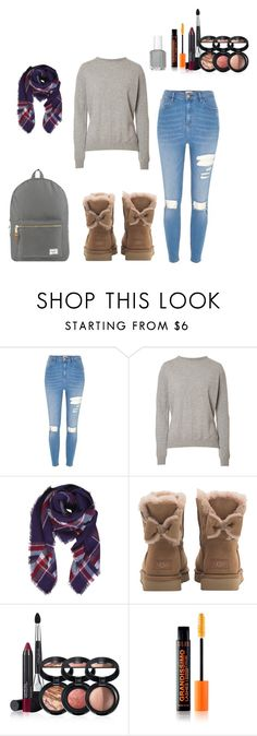 """""""Falls finest white girl 😇"""" by cece02 ❤ liked on Polyvore featuring River Island, Preen, Humble Chic, UGG, Laura Geller and Herschel Supply Co."""