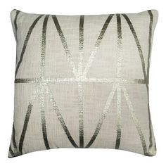 "Geometric Decorative Pillow White (18""x18"") - Threshold™ : Target"