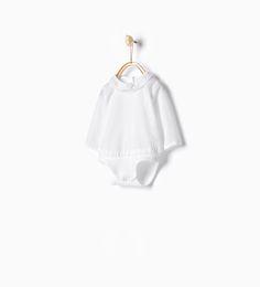 Body cuello puntilla - Camisas - Mini | 0 - 12 meses - NIÑOS | ZARA España
