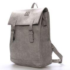 60052da25d  Novinka Šedý stylový batoh Enrico Benetti s objemnou kapsou. Do batohu se  vejde na