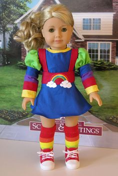 Rainbow Brite Costume for American Girl or 18 by cupcakecutiepie