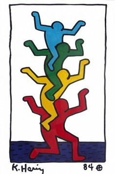 Keith Haring Untitled (Stacked Figures)