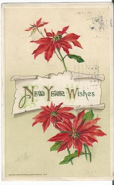 A personal favorite from my Etsy shop https://www.etsy.com/listing/257872405/beautiful-1912-happy-new-year-embossed