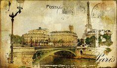 Paris Paris.. Vintage Photoalbum Series Stock Photo, Picture And Royalty Free Image. Image 8120289.