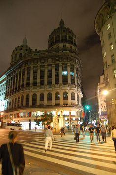 """Florida street and """"Diagonal Norte"""", Buenos Aires."""