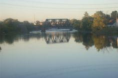 CN Trestle Reflecting on the Moira River