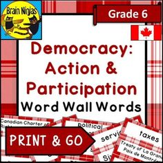 This resource will help your students practice more than 60 key words relating to the Grade 6 Social Studies curriculum for Alberta with a set of large word wall words for your Balanced Literacy classroom. Each page contains four key words. Preparation of the word wall words is minor.