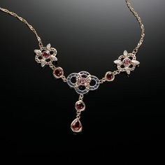 Donna Pizarro Designs Sterling Silver Pink Sapphire Daisy Necklace - 14.5 Inches GJlcm5s