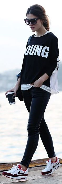 Black And White Sporty Look