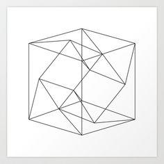 CUBEXCUBE+-+WHITE+Art+Print+by+NATALIEXANNA+-+$15.00