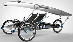 Solarmobil: Zweisitziges Fahrrad aus dem Baukasten fährt mit Sonnenkraft