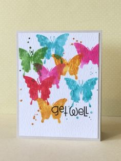 Get Well - Scrapbook.com - gorgeous watercolor card