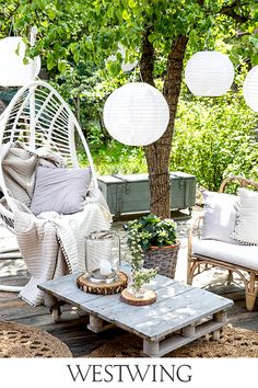 Ideas Para Organizar, Some Ideas, Hanging Chair, Garden Furniture, Room Inspiration, Outdoor Gardens, Sweet Home, Projects To Try, Balcony