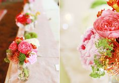 red and pink bridesmaid bouquet | photo by Red Gallery | 100 Layer Cake