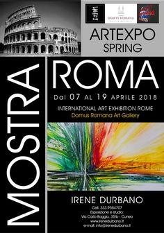 Quadri astratti moderni di Durbano Irene. Mostra a Roma