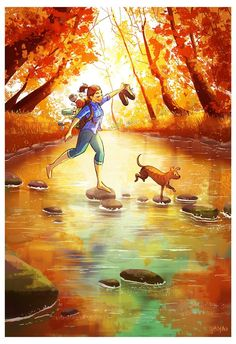 Beautiful art illustrations by Yaoyao Ma Van As Art Shared by Veri Apriyatno Artist . Art And Illustration, Art Illustrations, Art Drawings Sketches, Cute Drawings, Living With Dogs, Cartoon Art, Cute Art, Art Girl, Fantasy Art