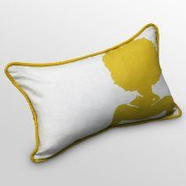 Silhouette Mimosa Pillow on sale at the Foundary today $75 @Jeanine Hays #AphroChic #The Foundary