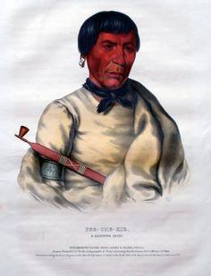 Pee-Che-Kir, Ojibwe chief, painted by Thomas Loraine McKenney, 1843.