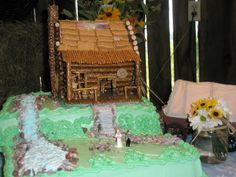 cake2 jpg log cabin cake edminston wedding