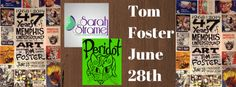 Opening reception - 47 Years of Memphis Art by Tom Foster coming up next Saturday at Peridot Memphis.