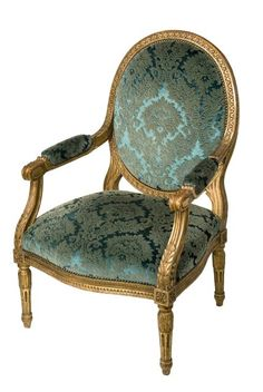One of Four Arm Antique Chairs From a Set of Louis XVI Style Seat Antique Furniture                                                                                                                                                                                 More