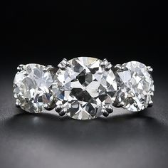My absolute budget busting dream three stone ring - Three-Stone European-Cut Diamond Ring - 8.63 Carats Total
